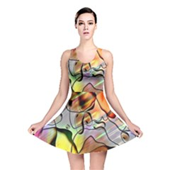 Abstract Pattern Texture Reversible Skater Dress