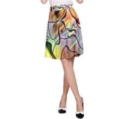 Abstract Pattern Texture A-Line Skirt