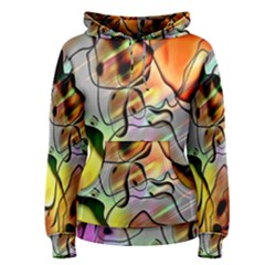 Abstract Pattern Texture Women s Pullover Hoodie