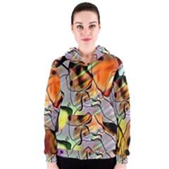 Abstract Pattern Texture Women s Zipper Hoodie