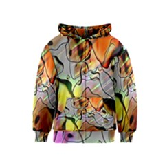 Abstract Pattern Texture Kids  Zipper Hoodie