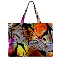 Abstract Pattern Texture Zipper Mini Tote Bag