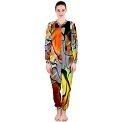 Abstract Pattern Texture OnePiece Jumpsuit (Ladies)