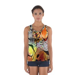 Abstract Pattern Texture Women s Sport Tank Top