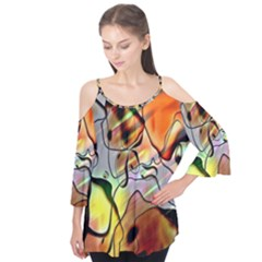 Abstract Pattern Texture Flutter Tees