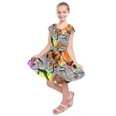 Abstract Pattern Texture Kids  Short Sleeve Dress