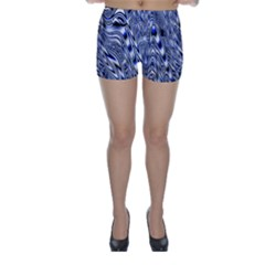 Aliens Music Notes Background Wallpaper Skinny Shorts