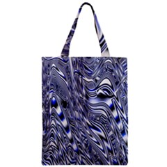Aliens Music Notes Background Wallpaper Zipper Classic Tote Bag