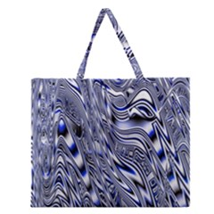 Aliens Music Notes Background Wallpaper Zipper Large Tote Bag