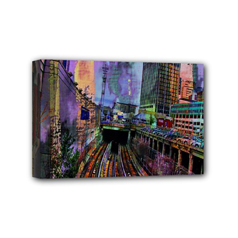 Downtown Chicago City Mini Canvas 6  X 4