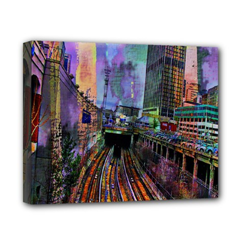 Downtown Chicago City Canvas 10  X 8