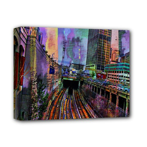 Downtown Chicago City Deluxe Canvas 14  X 11