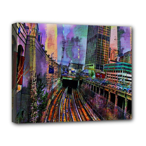 Downtown Chicago City Deluxe Canvas 20  X 16