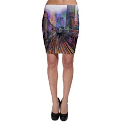 Downtown Chicago City Bodycon Skirt