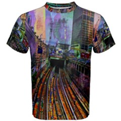 Downtown Chicago City Men s Cotton Tee