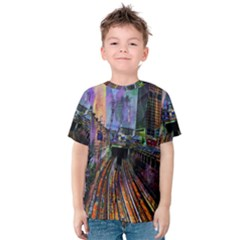 Downtown Chicago City Kids  Cotton Tee