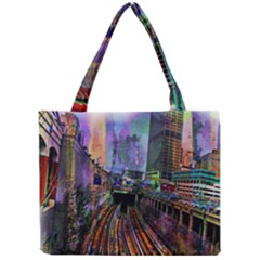 Downtown Chicago City Mini Tote Bag