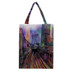 Downtown Chicago City Classic Tote Bag