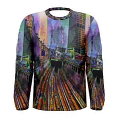 Downtown Chicago City Men s Long Sleeve Tee