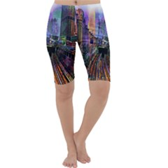 Downtown Chicago City Cropped Leggings