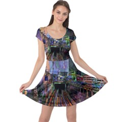 Downtown Chicago City Cap Sleeve Dresses