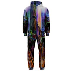 Downtown Chicago City Hooded Jumpsuit (Men)