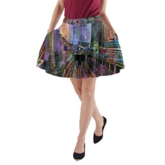 Downtown Chicago City A-Line Pocket Skirt