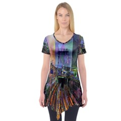 Downtown Chicago City Short Sleeve Tunic