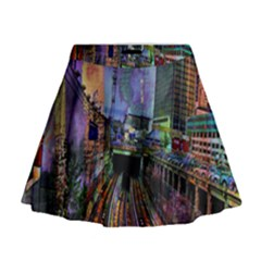 Downtown Chicago City Mini Flare Skirt