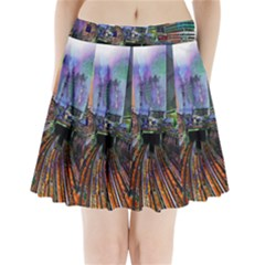 Downtown Chicago City Pleated Mini Skirt