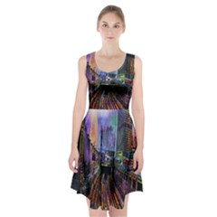 Downtown Chicago City Racerback Midi Dress