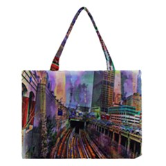 Downtown Chicago City Medium Tote Bag