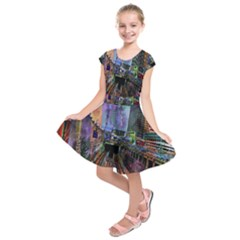 Downtown Chicago City Kids  Short Sleeve Dress