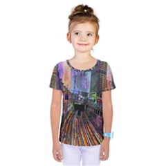 Downtown Chicago City Kids  One Piece Tee