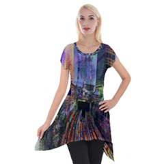Downtown Chicago City Short Sleeve Side Drop Tunic