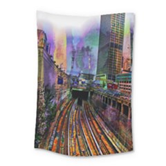 Downtown Chicago City Small Tapestry