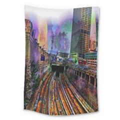 Downtown Chicago City Large Tapestry