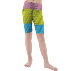 Brickwall Kids  Mid Length Swim Shorts