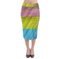 Brickwall Midi Pencil Skirt