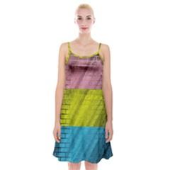 Brickwall Spaghetti Strap Velvet Dress