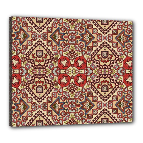 Seamless Pattern Based On Turkish Carpet Pattern Canvas 24  x 20