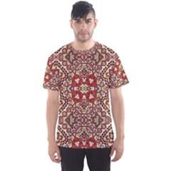 Seamless Pattern Based On Turkish Carpet Pattern Men s Sport Mesh Tee