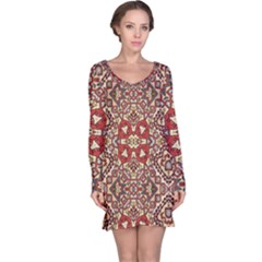 Seamless Pattern Based On Turkish Carpet Pattern Long Sleeve Nightdress