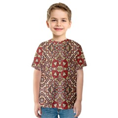 Seamless Pattern Based On Turkish Carpet Pattern Kids  Sport Mesh Tee