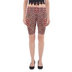 Seamless Pattern Based On Turkish Carpet Pattern Yoga Cropped Leggings