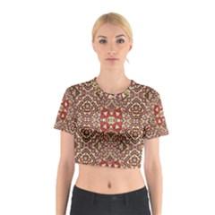 Seamless Pattern Based On Turkish Carpet Pattern Cotton Crop Top