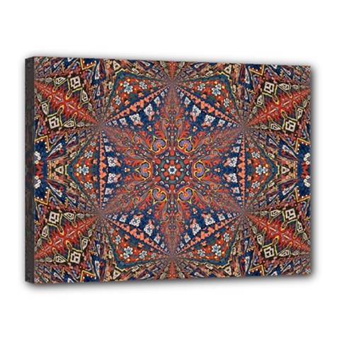 Armenian Carpet In Kaleidoscope Canvas 16  x 12