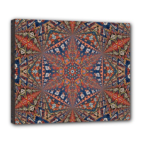 Armenian Carpet In Kaleidoscope Deluxe Canvas 24  X 20