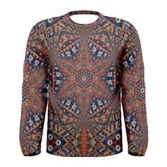 Armenian Carpet In Kaleidoscope Men s Long Sleeve Tee