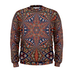 Armenian Carpet In Kaleidoscope Men s Sweatshirt